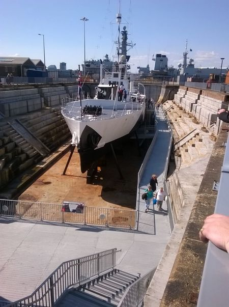 Old Boat ition] Old Boat Navel Portsmouth Harbour Warship Taking Photos Beautiful Day Dry Dock Historic
