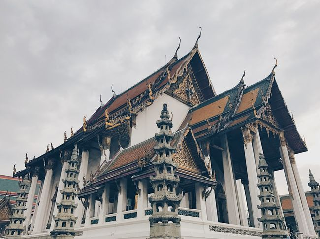 Temple Temple Architecture Place Of Worship Architecture Built Structure History Sky Religion Buddha Buddha Temple Believe Believer Thailand Bangkok