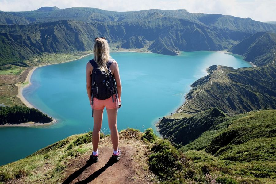 Mountain Nature Full Length Beauty In Nature Lifestyles Water Leisure Activity Rear View Hiking One Person Scenics Woman Outdoors Mountain Range Standing Tranquility View From Above Lake Landscape EyeEm Best Shots Women Around The World in Lagoa Do Fogo Sao Miguel , Azores Portugal MISSIONS: The Great Outdoors - 2017 EyeEm Awards The Portraitist - 2017 EyeEm Awards Mix Yourself A Good Time Lost In The Landscape The Great Outdoors - 2018 EyeEm Awards The Traveler - 2018 EyeEm Awards The Portraitist - 2018 EyeEm Awards