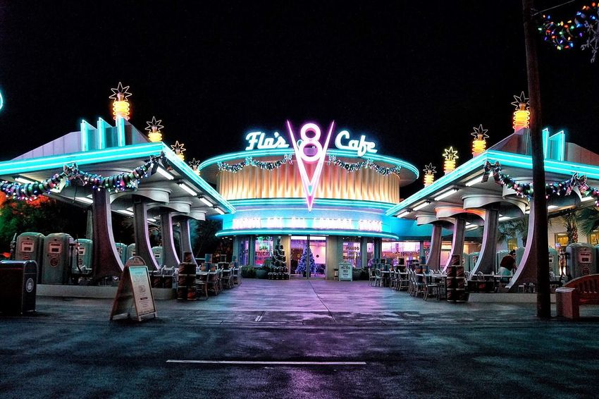 Illuminated Night Travel Destinations City Architecture Amusement Park Amusement Park Ride No People Outdoors Carousel Sky Disney