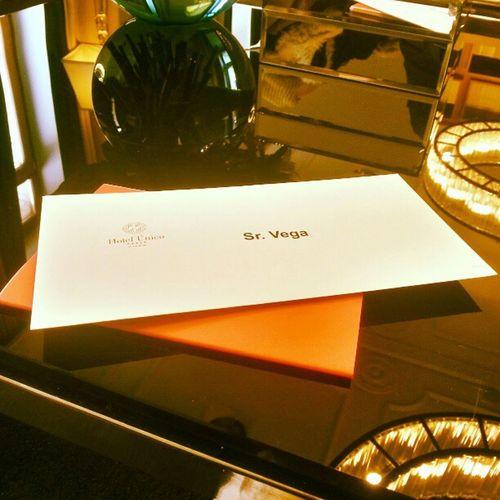 La carta de bienvenida del hotel!!!