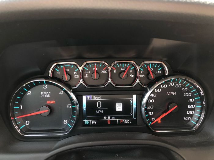 High angle view of dashboard in car