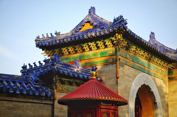Architecture History Travel Outdoors Day Shadow Architecture Travel Sunlight Light And Shadow Old Building  China Culture China View Warm Winter Temple Of Heaven Park FUJIFILM X-T10 Old Architecture Beijing, China Traditional Building Traditional Architecture Shadows & Lights King - Royal Person Freshness Old Building  Multi Colored