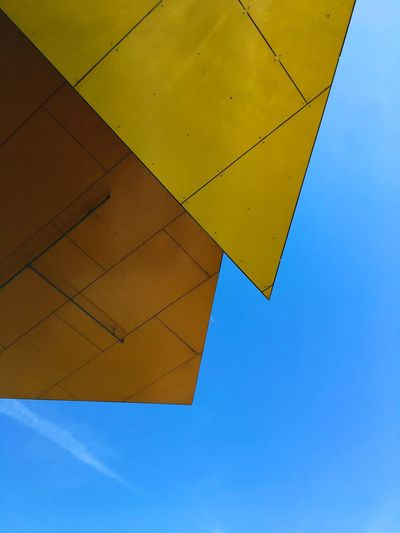 Bjerget by my favorite architect Bjarke Ingels Colors Colorful Architecture_collection Blue Sky Look Up And Thrive Architecture Denmark Copenhagen Eye4photography  EyeEm Best Shots Modern Architecture Ladyphotographerofthemonth Eye Em Architecture Building Exterior Textures and Surfaces Architecturelovers Mettebruus Mette Bruus Mette Bruus BIG Bjarke Ingels Bjerget Sky Yellow Blue No People Low Angle View Nature Day Clear Sky The Architect - 2018 EyeEm Awards #urbanana: The Urban Playground My Best Photo
