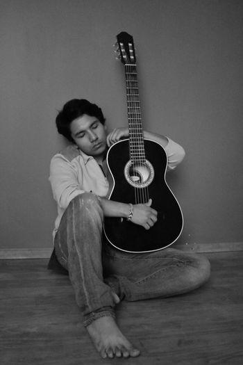 Guitar Blackandwhite Tranquility Music