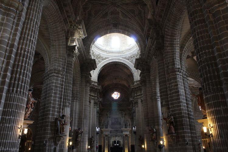 Cathedral Jerez de la Frontera Chatolic Saint Ghotic Architecture Illuminated City Religion Architecture Built Structure Historic