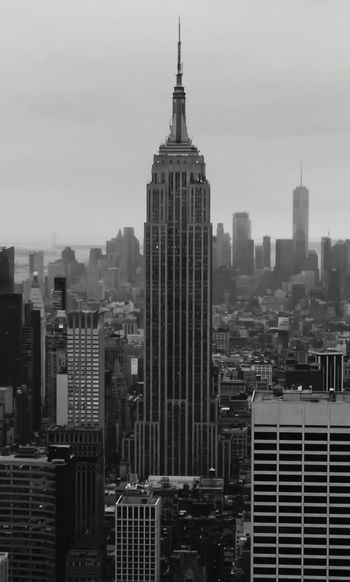 Empire State... of mind City Cityscape Urban Skyline Modern Skyscraper Business Business Finance And Industry Office Downtown District Corporate Business Office Park Building Story Office Building Monochrome Skyline Construction Tall - High High Rise Wide Shot
