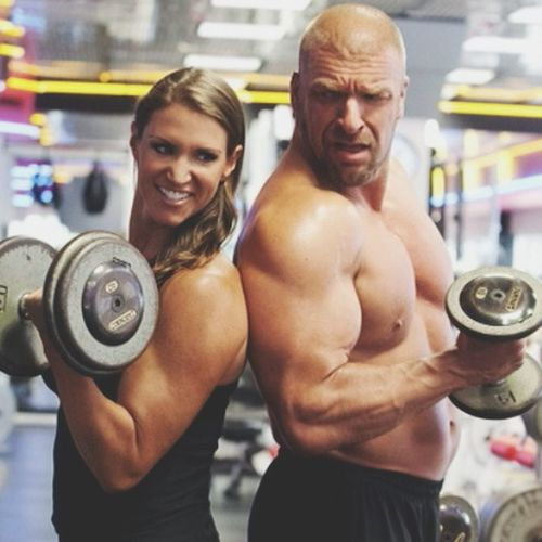 Stephanie and Triple H!