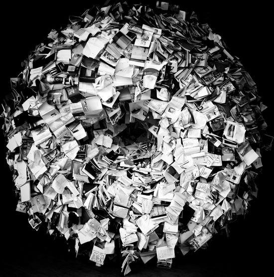 Paper Books Black Background Close-up