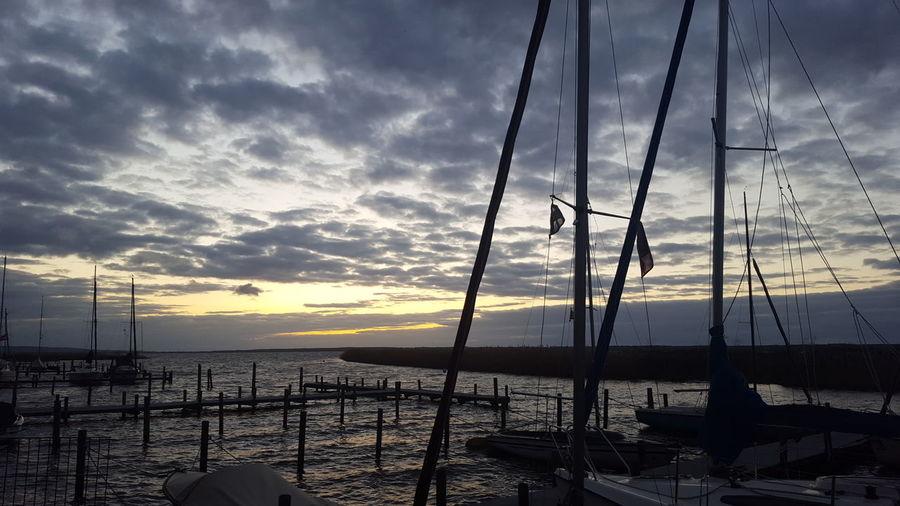 Steinhuder Meer Cloud - Sky Sunset Idyllic Water Sea Sky No People Beauty In Nature Nautical Vessel Day Dramatic Sky Scenics Nature Steinhuder Meer