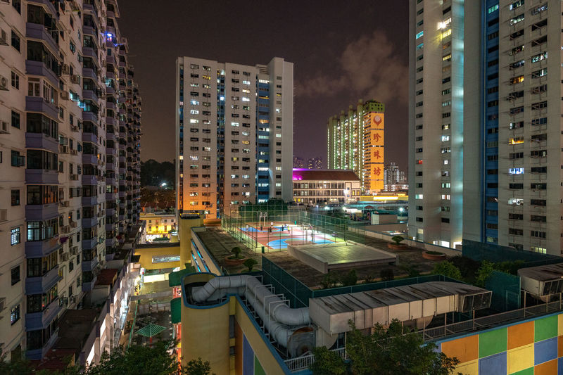 China Town playground, Singapore Building Exterior Built Structure Architecture City Building Night Illuminated Residential District Cityscape Outdoors Skyscraper Apartment Playground Singapore China Town