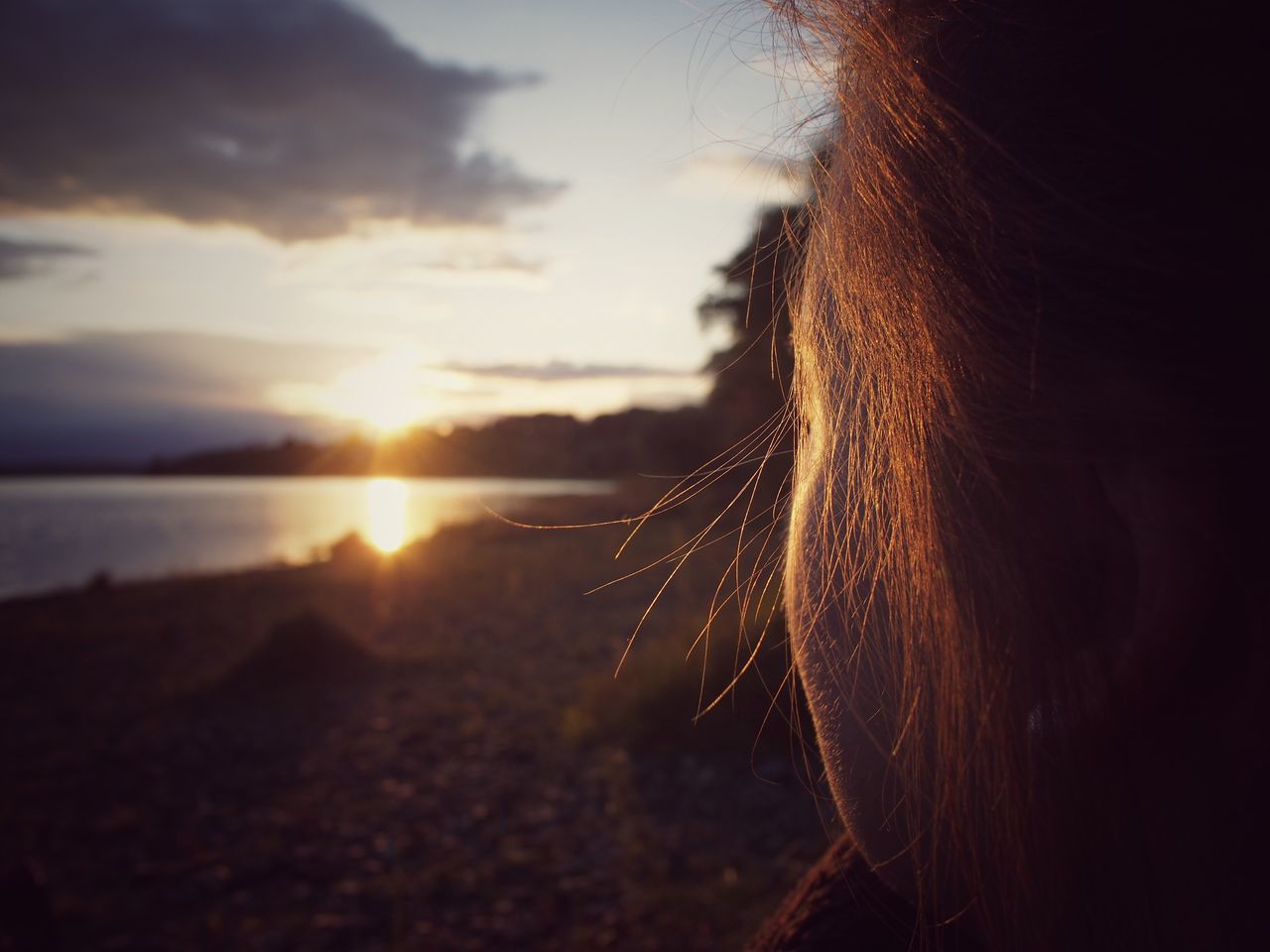 sunset, nature, sun, sky, outdoors, close-up, sunlight, scenics, beauty in nature, one person, day, people