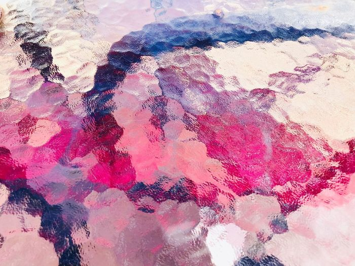 Abstract Backgrounds Textured  Full Frame Painted Image Paint Pink Color Pattern Multi Colored Close-up No People Texture Glass Glass - Material Refraction Colorful Colors Nature Brilliance  EyeEm Textured