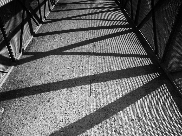 Black & White Black And White Bridge Lines Light And Shadow Shadow