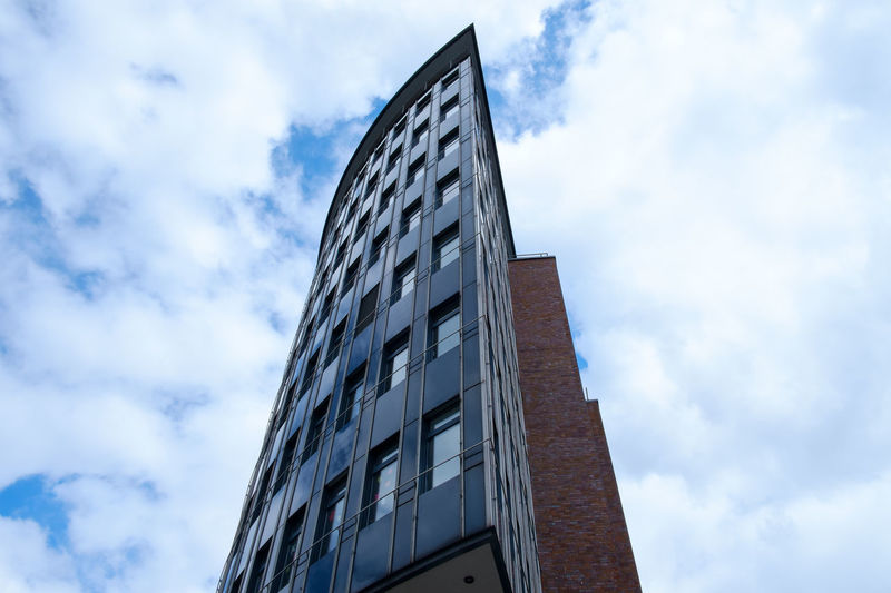 Hamburg Architecture Building Exterior Built Structure Cloud - Sky Day Hamburg Low Angle View Modern No People Outdoors Sky Window