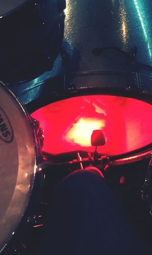 Played drums this past Sunday.