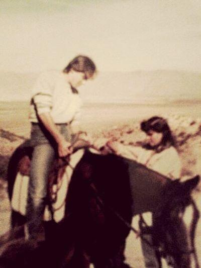 @Bluemoon007 That's Me 1985 Horsebackriding  @ High Desert