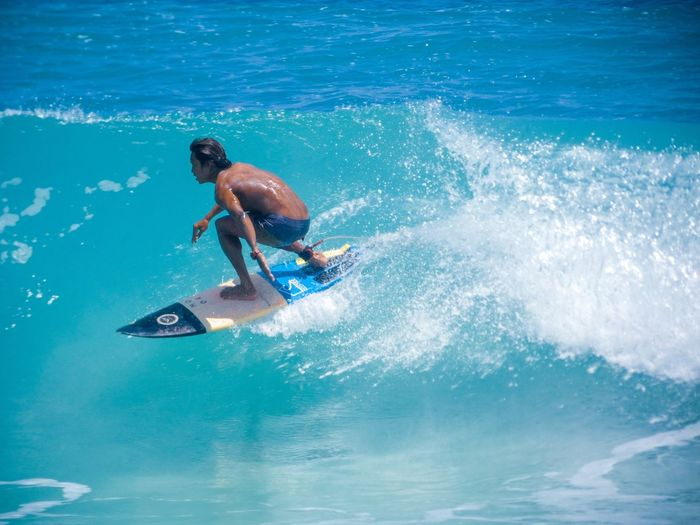 Surfing is his