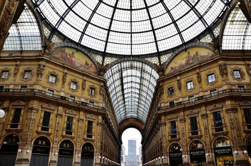Milano - Galleria Vittorio Emanuele II Milano Milanocity Milan Milan,Italy Galleria Vittorio Emanuele Architecture Architecture Arch Low Angle View Dome History Built Structure Travel Destinations No People