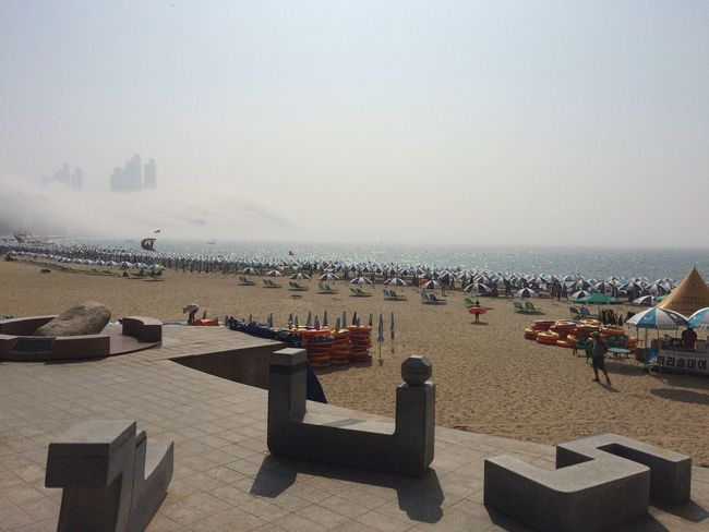 Summer ☀ Haeundae Foggy Good Morning Modern City