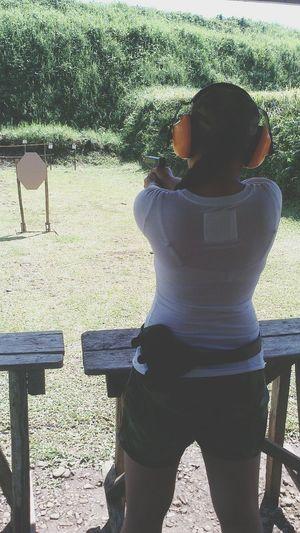 my first firing experience . 💪💗🔫🔫 First Eyeem Photo