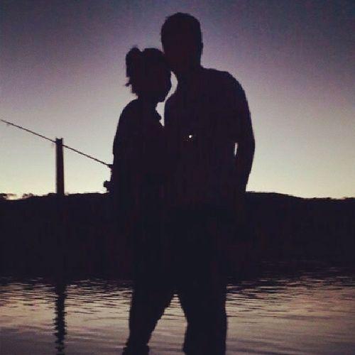 @marianela_br te amo linda :-) Foto En El Cadillal atardecer pescando juntos amor instamoments instagood instalove B-)