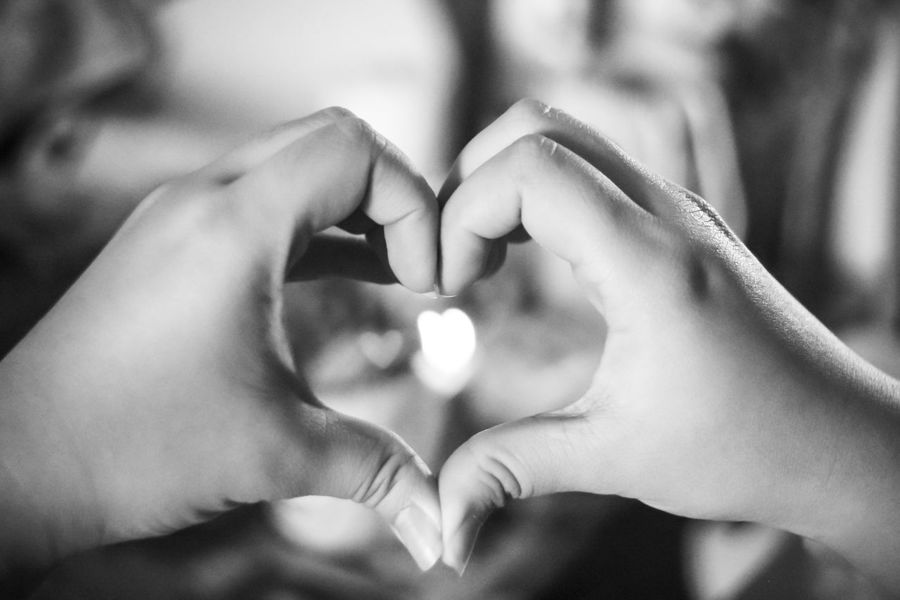 Beauty Bokeh Bokeh Hearts Bokeh Photography Bokehlicious Focus On Foreground Heart Shape Human Finger Indoors  Lifestyles Person Two Is Better Than One Young Adult