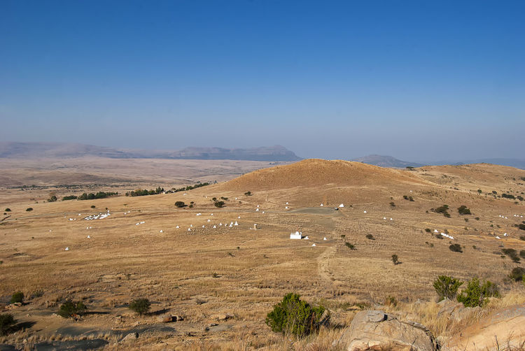 The site of the battle of isandlwana between the british army and zulus