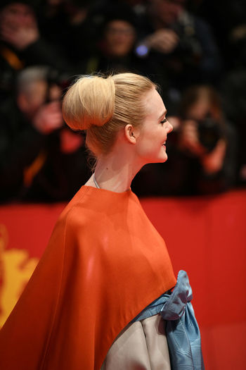 Berlin, Germany - February 15, 2018: American actress Elle Fanning on the red carpet at the 68th Berlinale International Film Festival premiere of the movie Isle Of Dogs Actors Event Fashion Film Festival Premiere Actress Arts Arts Culture And Entertainment Berlinale Berlinale 2018 Berlinale Festival Berlinale2018 Blond Hair Elle Fanning Entertainment Entertainment Event Fashion Fashion Model Focus On Foreground People Red Carpet Star Testimonial Well-dressed Young Adult