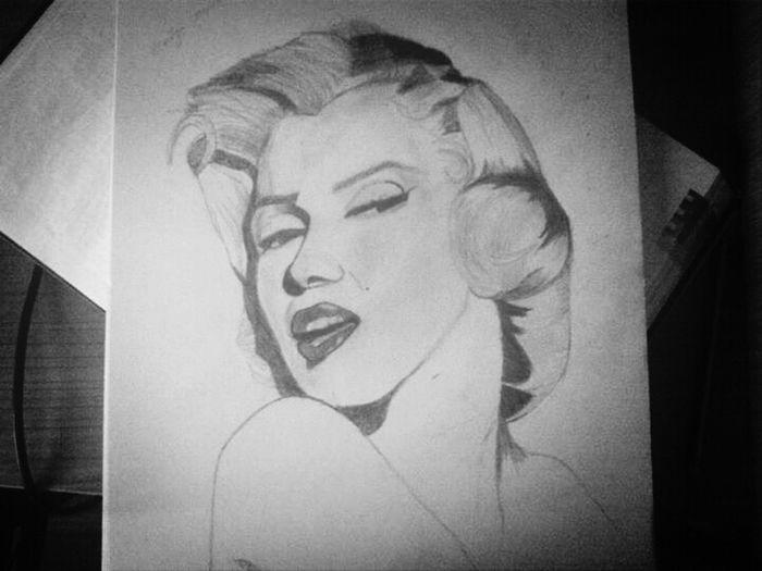 Drawing Sketch Art Marilyn Monroe