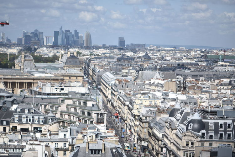 Premium Collection Premium Aerial View View Of La Défense , Paris France View From Above View From Saint-jacques Tower City Cityscape Urban Skyline Ferris Wheel Aerial View Sky Architecture Building Exterior