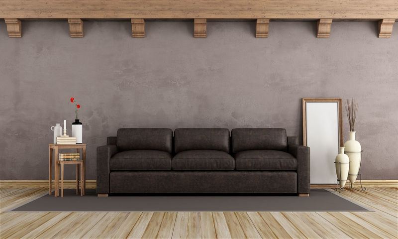 Home Architecture Brown Home Showcase Interior Indoors  Leather Sofa Living Room No People Sofa Wood - Material