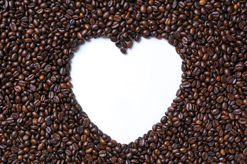 Directly above shot of coffee beans