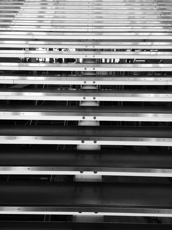 Stairway Architecture Bibliotheque Blinds Carré D'art Day Full Frame Indoors  No People