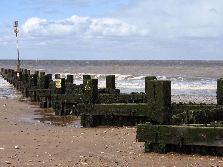 Breakers on the beach Breakers Sea Beach Water Cloud - Sky Sky Horizon Over Water Sand No People Beauty In Nature Norfolk Uk Wave Seaside
