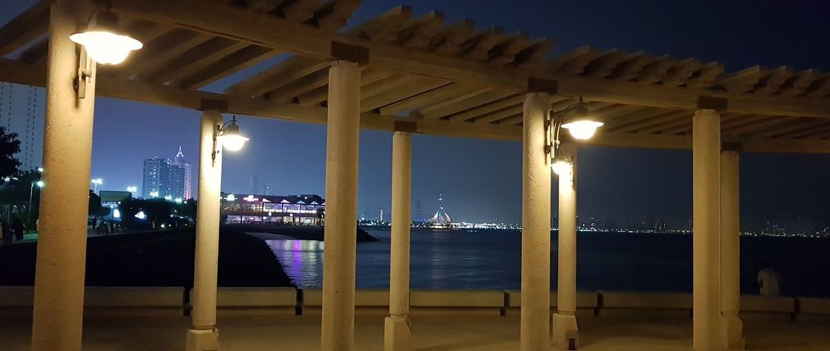 Illuminated City Architectural Column Business Finance And Industry Luxury Hardwood Floor Architecture Sky Built Structure Travel