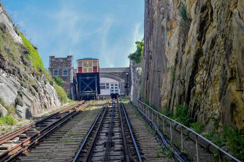Architecture Built Structure Cable Car Day No People Outdoors Rail Transportation Railroad Track Sky The Way Forward Transportation Wooden Coach