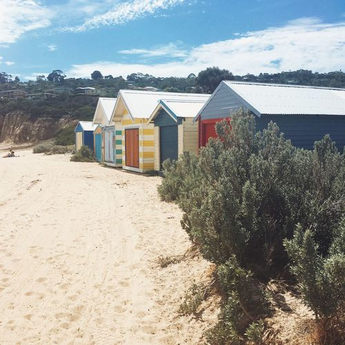 Australia Beach Beach Huts Houses Mornington Sand Square Travel Vscocam Wanderlust