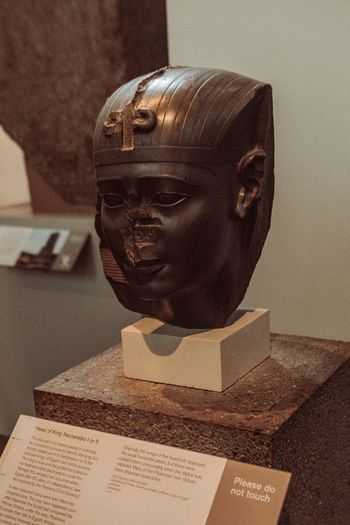 Close-up of female statue in museum