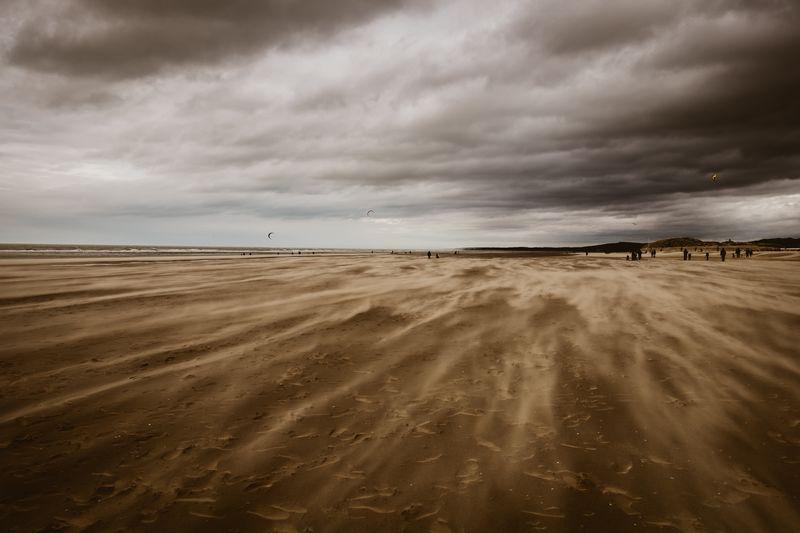 Wind Land Cloud - Sky Sky Sea Water Beach Scenics - Nature Sand