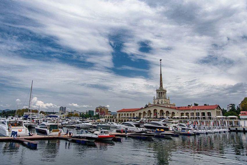 Sochi Russia Port Embankment Yacht Sea Blacksea Holidays LastYear