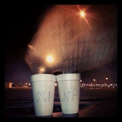 Mina Karak Nescafe Port city night lights chilling