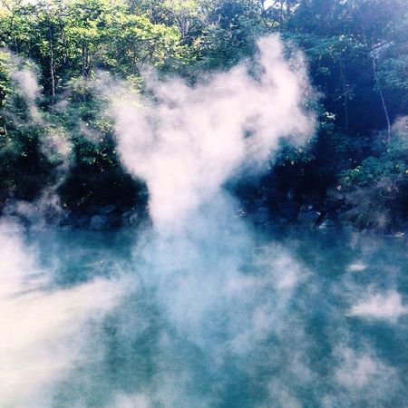 hot spring Beauty In Nature Close-up Day Nature No People Outdoors Smoke - Physical Structure Water