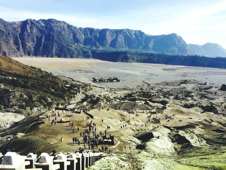 That scenery from Mount Bromo Crater Scenery Scenery_collection Scenery Shots Crater Mountains Mountain Crates Bromo Mountain Bromotrip Eastjava INDONESIA Indonesia_photography Panorama Desert Wonderful Indonesia