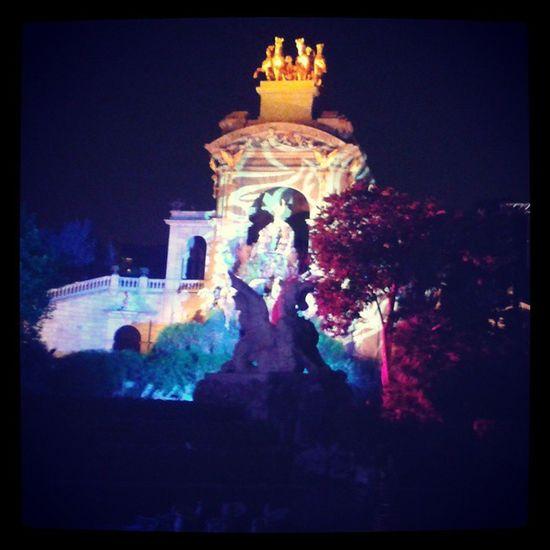 La Mercè. Parc de la Ciutadela Barcelona Catalunya Merce Lake lights colors architecture dark night festival concert