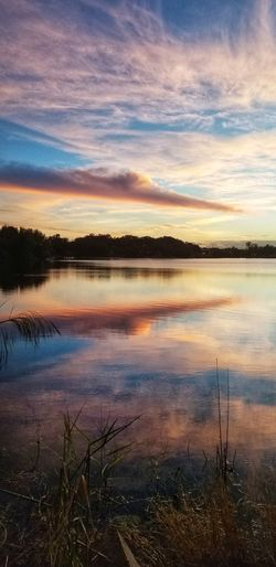Water Sunset Lake Blue Reflection Red Sky Horizon Over Water Landscape Cloud - Sky Reflecting Pool Reflection Lake