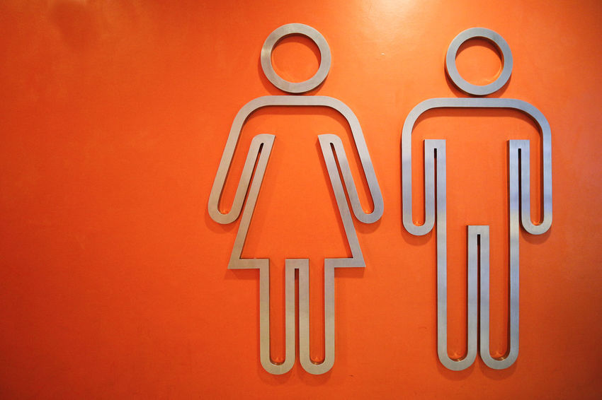 Comforting symbol Icon Indoors  Ladies And Gents No People Orange Color Sign Signage Symbol