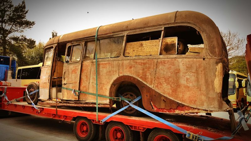 Transportation Old Bus Rusted Restoration Project