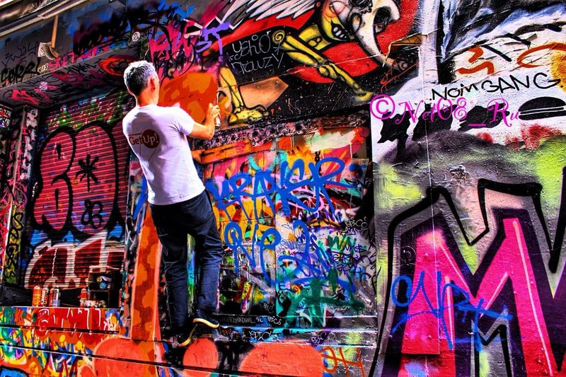 Hosier Lane is a bluestone cobbled vehicular and pedestrian laneway on the southern edge of the central city grid of Melbourne, Australia. Hosier lane is a much celebrated landmark in Melbourne mainly due to its sophisticated urban art. Streamzoofamily HDR Urban Art By JUNIQE Melbourne