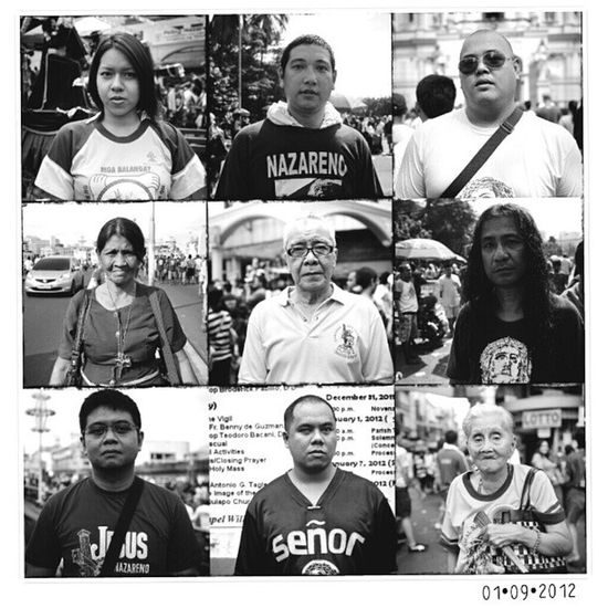 Portraits of Devotees of the BlackNazarene | Taken on last year's feast | Neopan Across100 mediumformat film and Mamiya6